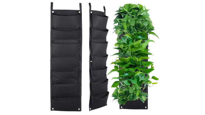 7 Pocket Hanging Vertical Garden Wall Planter