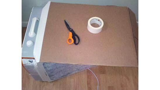 Step Four Attach Cardboard